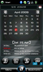 calendar main screen (month-view)