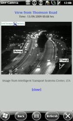 Snapshot of the road traffic, courtesy of LTA OneMotoring Site